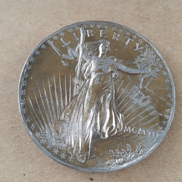 Other - Vintage Liberty Coin Belt Buckle